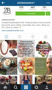 Zee Bee Market does a great job adding text to help drive engagement through its Instagram account.